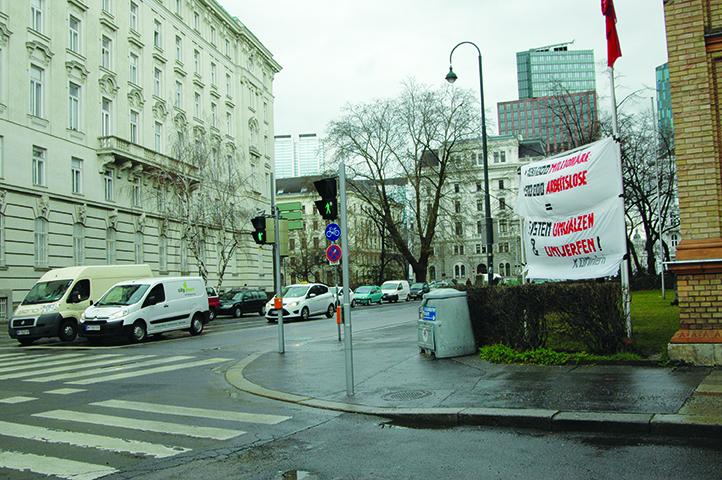 Gegenüber dem BMASK (Wien)