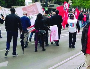 Die CHP beim Maiaufmarsch der SPÖ Wien, 2016