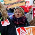Kundgebung gegen Siemens Arbeitsplatzabbau