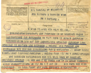 Telegramm_15.1.1918_Jännerstreik